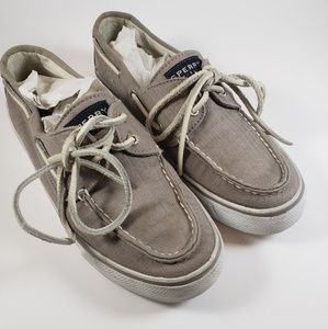 Womens Sperry Top Sider Boat Shoes Grey 9447012
